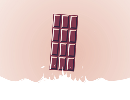 Illustration d'un tablette de chocolat